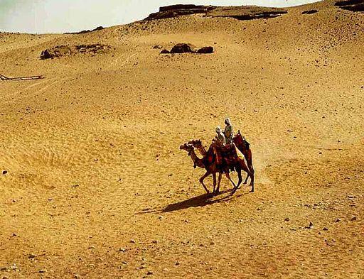 エジプトの砂漠