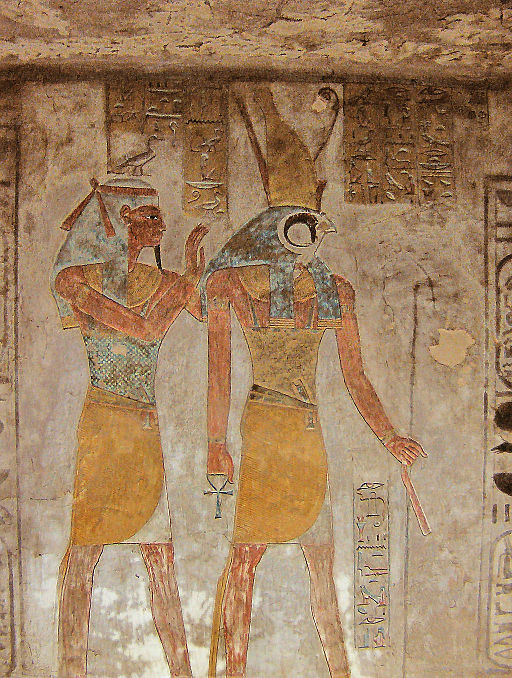 Relief of Horus and Geb from KV14 (Kairoinfo4u)